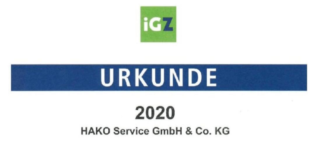 Interessenverband Deutscher Zeitarbeitsunternehmen iGZ Logo